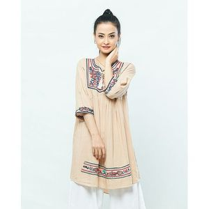 Skin Embroidered Kurti For Women