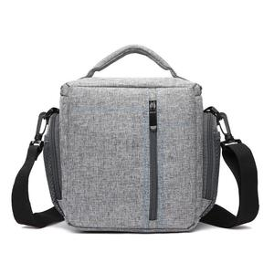 HUWANG Portable Waterproof Nylon Surface Material Outdoor Sports Sling Shoulder Bag for DSLR Cameras, Size: 23cm x 11cm x 23cm(Grey)