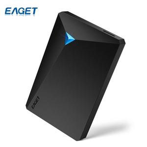 EAGET HDD Hard Disk Encryption External Hard Drive Disk USB 3.0 High Speed 500GB Desktop for Laptop Computer Phones