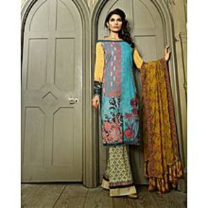 Asim JofaFerozi Embroidered Unstitched Luxury Lawn 3Pcs Suit for Women