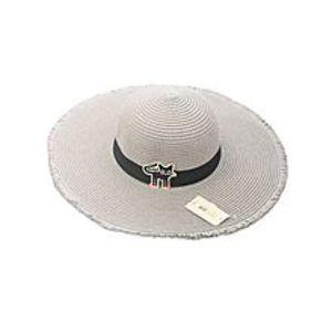 Get StyleCat patch sun hat (adult models) Grey-Grey