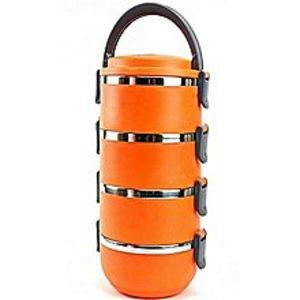 Girls-Choose4 Tier Lunch Box - Lb 4 - Orange