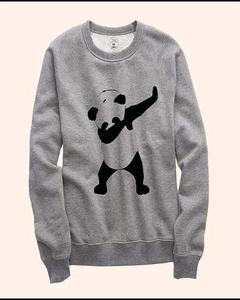 Grey Dab Panda print Sweat Shirt for Him