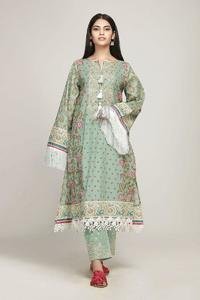 Un-Stitched Khaadi Replica Embroidered Lawn Dress for Women