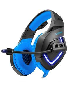 K1 - Stereo Wired Gaming Heavy Bass Over-Ear Game Headphone With Micro For Pc,Ps4,Xbox One - Blue