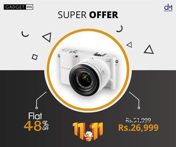 Samsung 21.6 MP TFT LCD Display 3  Inch Digital Camera EV-NX1000