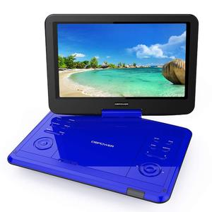 """DBPOWER 12.1"""" Portable DVD Player with Rechargeable Battery, Swivel Screen, Supports SD Card and USB, with 1.8M Car Charger and 1.8M Power Adaptor (Black)"""