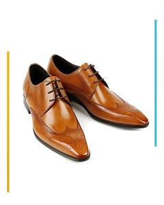 Mustured Formal Shoes For Men