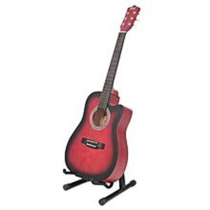 "Slash39"" Matte Finish Acoustic Guitar with Free Guitar Bag - Red Burst"