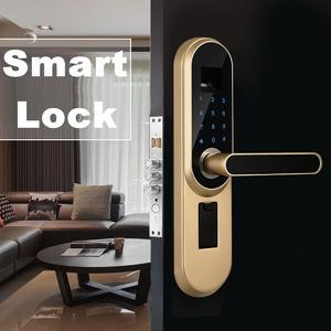Universal Smart Door Lock Fingerprint Touch Password Anti-theft Security