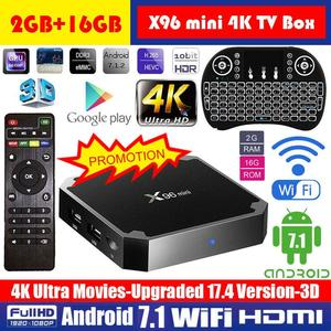 4K Smart Android Tv Box 2GB/16GB With 1000 Free Tv Channels Plus Rechargeable Wireless Keyboard Mouse Combo
