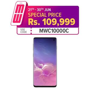 "Samsung Galaxy S10 Mobile Phone - 6.1"" Quad HD+ Display - 8GB RAM - 128GB ROM (1 Year Local M&P Warranty) (Free Samsung Wireless Charger & Power Bank)"