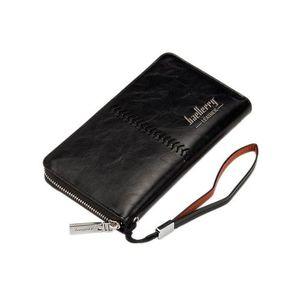PU Leather Wallet Case - Black