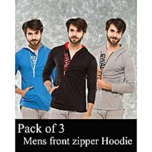 AybeezPack Of 3 Front Zipper ShirtFor Men - ABZ-2293 S