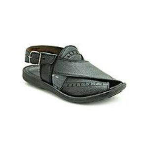 Bata Black PVC Synthetic Peshawari Sandals For Men
