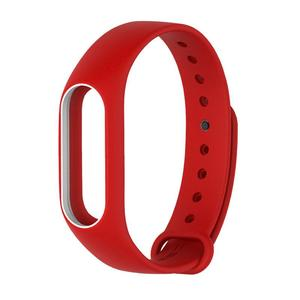 Amazing  Silicone Soft Duotone Wrist Strap Wrist Bands Replacement For Mi Band 2