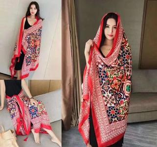 Red Winter imported shawls Pashmina