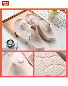 High Quality Flip Flop Slippers-Khaki-Size:45