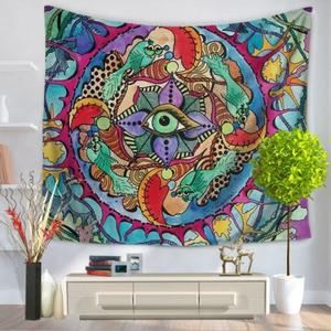 Indian Hippie Psychedelic Sun Mandala Tapestry Art Wall Hanging Ethnic Bedspread