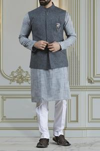 Almirah Summer Spring Collection Vol.01 2019 INDIGO BLUE POLYESTER Men's Waistcoat