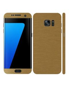 Samsung Galaxy S7 Edge Golden Brushed Metal texture Mobile Skin