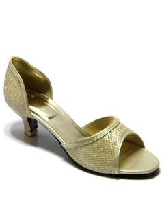 English Boot House Golden Rexine Heels For Women - 0477-2513