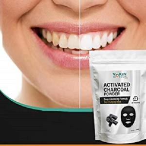 Vokin Biotech Activated Charcoal Powder (For Face mask, Teeth whitening & Teeth Cleaning, Skin Treatment) (100gm)