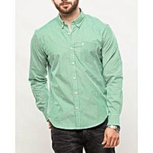 DenizenPowdered Yellow Cotton Shirt for Men-Special Online Price