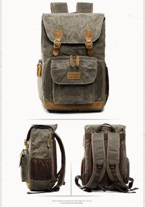 Unisex Canvas Waterproof Photography Outdoor Wear-resistant Large Camera Backpack
