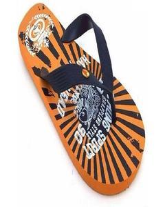 Orange Rubber Slippers For Men