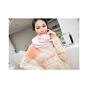 Chinese Dukaan Pink Floral Women Long Bohemian Printed Wrap Scarf for Girls