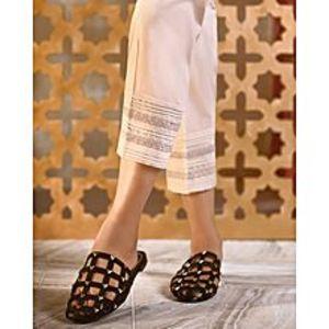 Bonanza SatrangiKhaki Cambric Ladies Unstitched Trouser