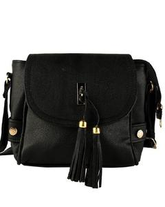 Black Cross Body Ladies Hand Bag