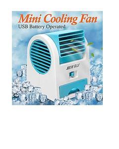 Mini Air Cooler Fan - Usb Pin - Battery Operated - -