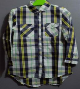Red, Pink & Blue Printed Check Shirts For Girls