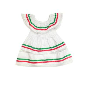 Toddler Kids Baby Girl Ruffle Stripe Sleeveless Lace Dress Princess Dress