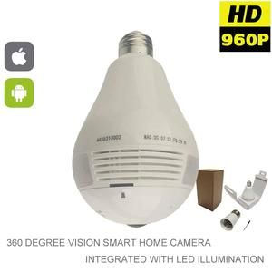 HD 360 Degree Panoramic View Wi-Fi Camera Bulb with Audio