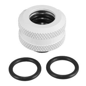 2pcs G1/4 Thread Quick Fixing Hard Tube Connector Fitting Hand Twist PC Water Cooling White
