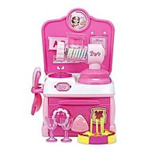 iShow PlusNo.A206 Kids Household Pretend Play Meat Grinder Gas Stove With Light - Pink