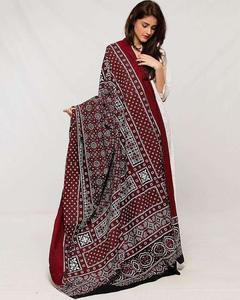 Women Multi Color Sindhi Ajrak 00005