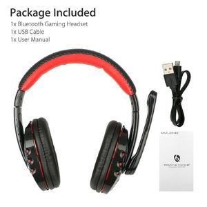 Poplikdfr Bluetooth Wireless Gaming Headset For Xbox PC PS4 With Mic LED Volume Control