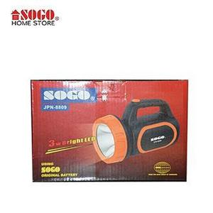 Sogo Rechargeable Torch 3W Bright Led Light  JPN-8809
