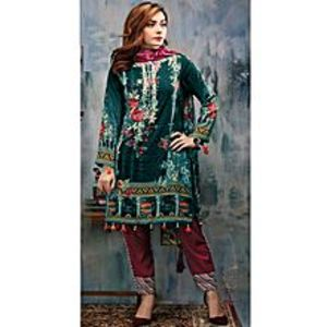 HyperZoneGreen Floret Embroidery Lawn Unstitched 3 Piece Suit