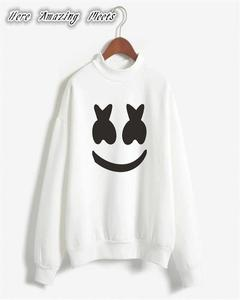 Smile Printed Sweat Shirt For Her