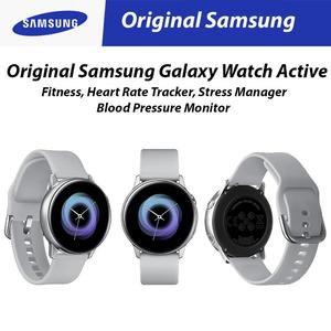 Original Samsung Galaxy Watch Active (2019) Silver Fitness, Heart Rate Tracker/ Stress Manager/ Blood Pressure Monitor