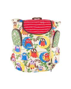 Beautiful Parrots Backpack School Bag Notebook Bag Laptop Bag Travel Bag for School and College - Off White