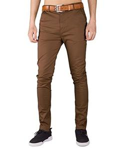 Brown Chino Cotton Pants For Men