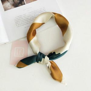 LALA Fashionable Design All Match Clothes Print Women Lady Silk-like Riband Scarves