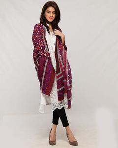 Women Multi Color Sindhi Ajrak 00013