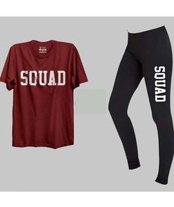 Pack of-2 Printed tshirt & Tights For Gym & Jogging